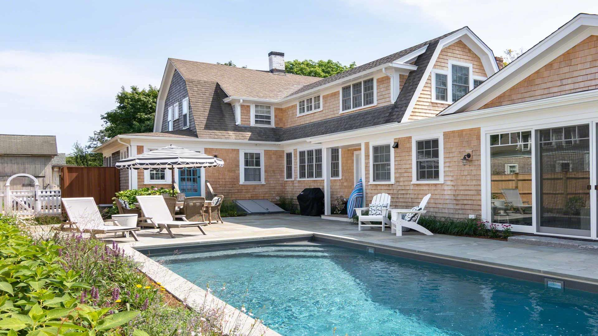 Village Gambrel With Pool And Pool House